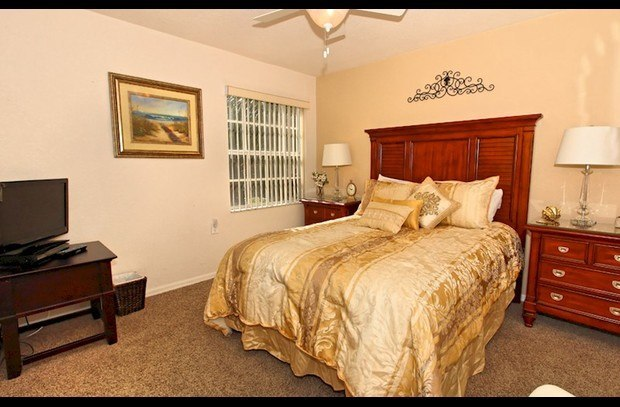 Upstairs Queen Bedroom With Flat Screen T.V.